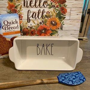 """Rae Dunn 9""""x5"""" baking dish BAKE"""